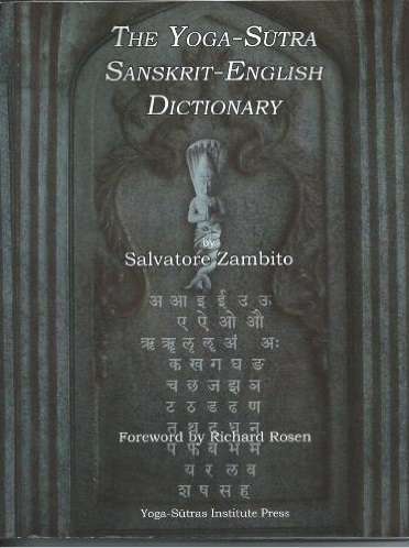 Sanskrit English Dictionary Salvatore Zambito Yoga Sutras Institute